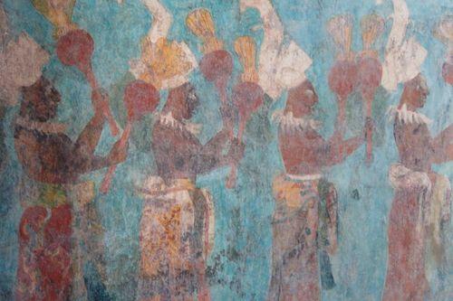 Maya blue maggie maggio for Bonampak mural painting